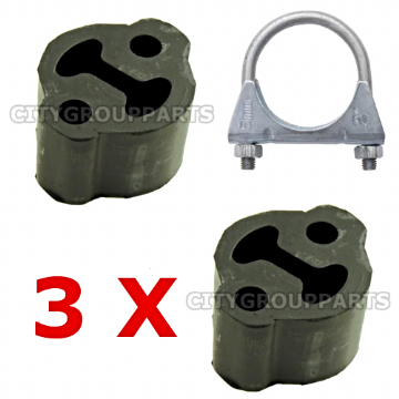 FORD GALAXY DIESEL 1.9, 2.0,2.3,2.8 EXHAUST RUBBERS + CLAMP MOUNTING FITTING KIT